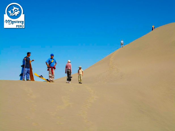 Climbing Cerro Blanco dune in Nazca.
