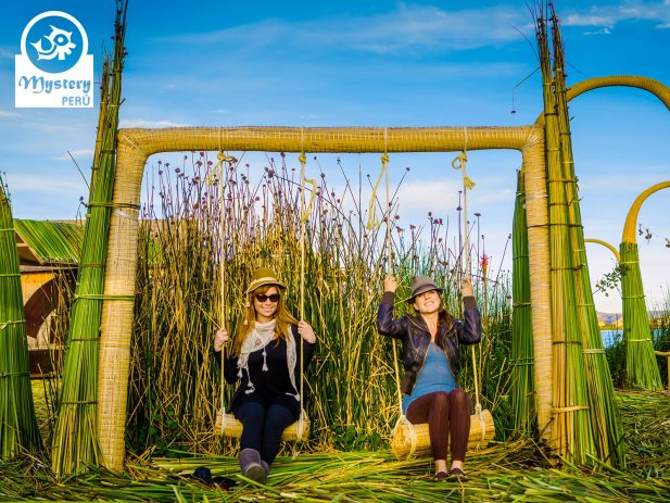 Having fun on the Uros homestay tour