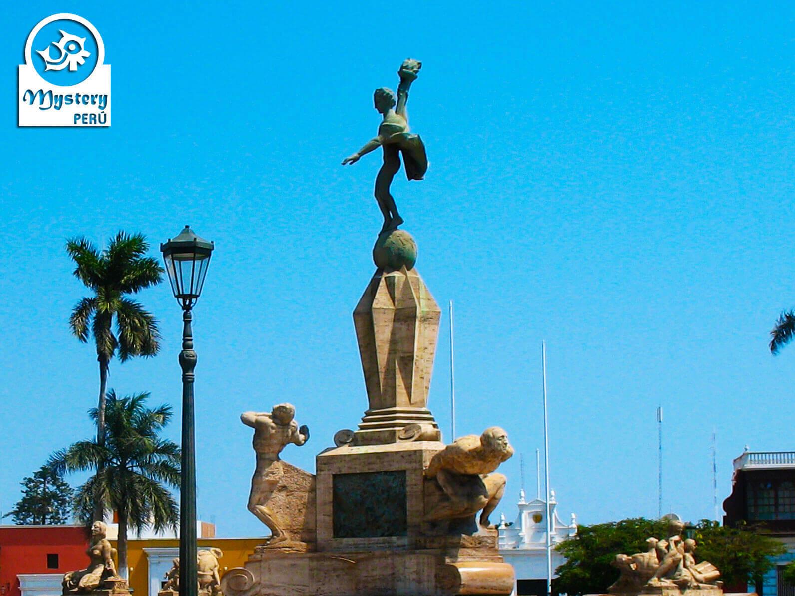 Monument of freedom in Trujillo Peru