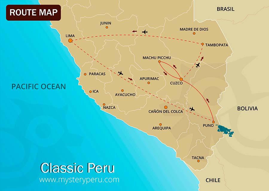 Classic Peru Map