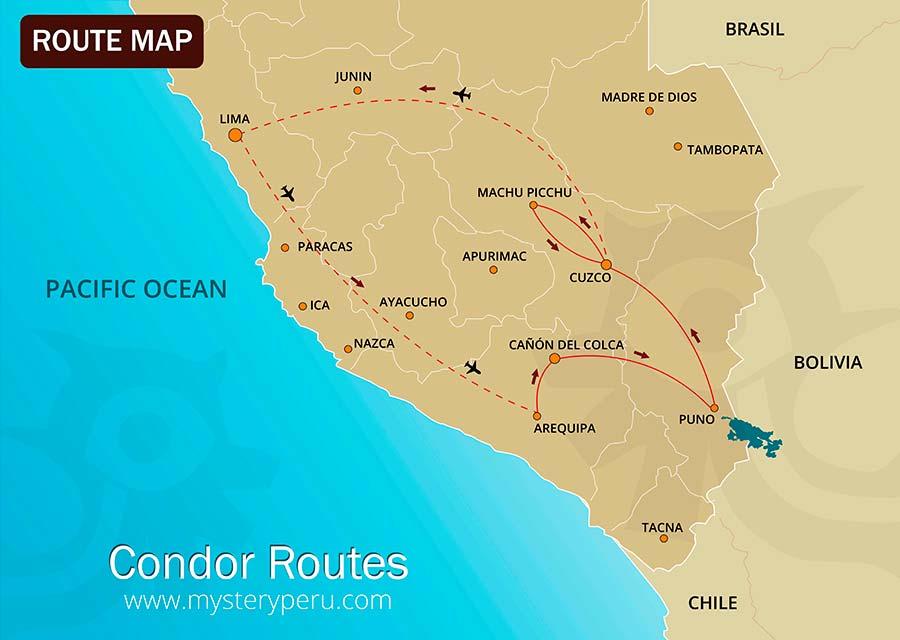 Condor Routes Map