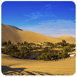 Huacachina Oasis from above - Ica