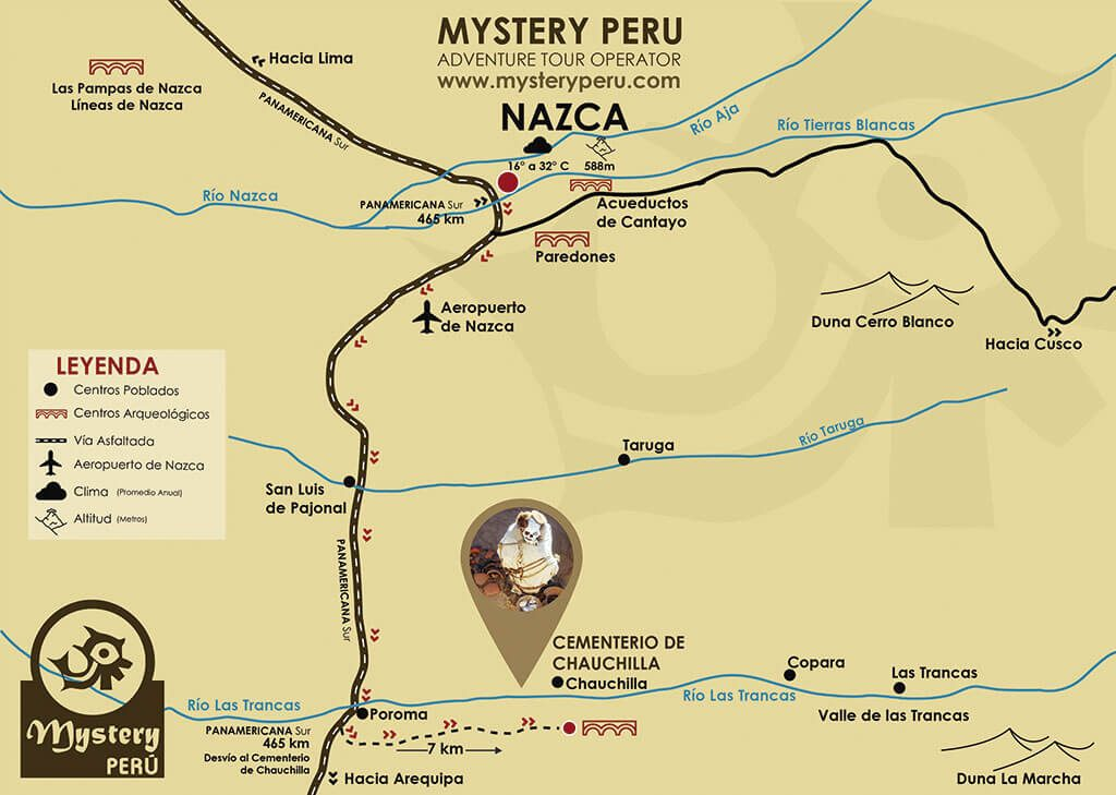 Map of Chauchilla Cemetery