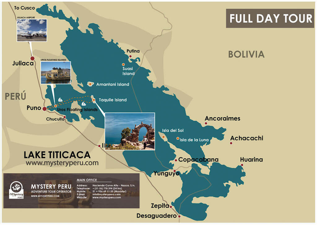 Map of the Lake Titicaca Full Day Classic Tour