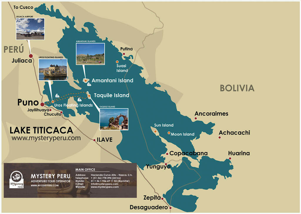 Map of the Lake Titicaca Homestay Tour