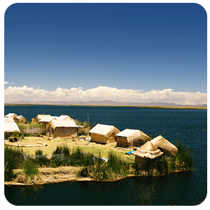 View of the Uros Floating Island