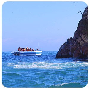 Boat touring in Ballestas