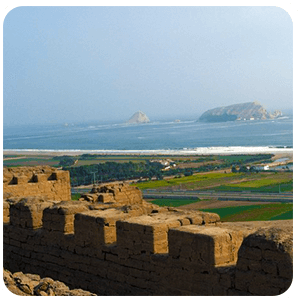 Pachacamac lookout point in Lima Peru