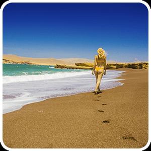 Red Beach in Paracas Peru