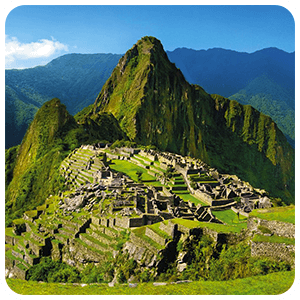 View of the Sanctuary of Machu Picchu