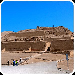 Visiting Pachacamac in Lima Peru