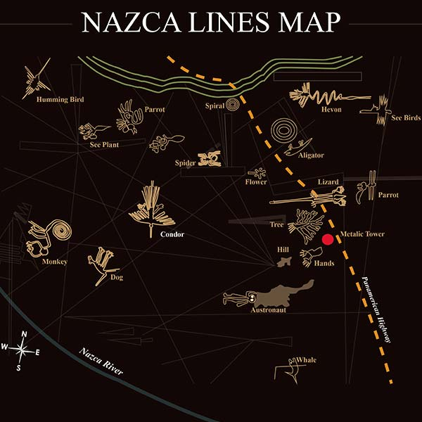Nazca Lines Flights Map