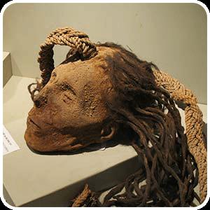 Cabeza Trofeo encontrada en Cahuachi