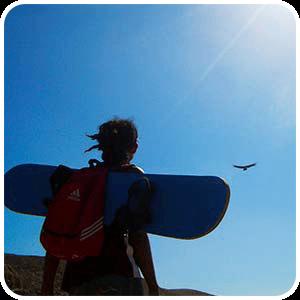 Condor flying over Cerro Blanco Nazca