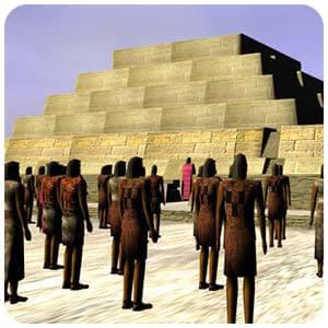 Ilustración Virtual de Cahuachi Nazca