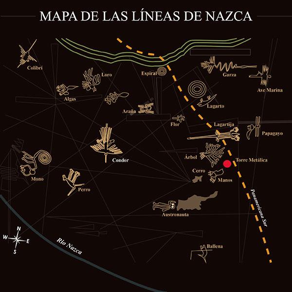 Mapa de los Geoglifos de Nasca