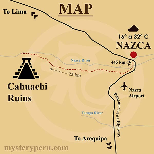 Route Map to Cahuachi