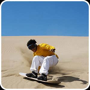 Sandboarding on Cerro Blanco Nazca