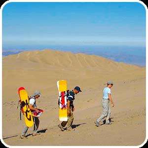 Subiendo la Duna Cerro Blanco