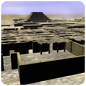 Virtual Reconstruction of the city of Cahuachi