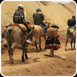 Horse Trek to The Rainbow Mountain Vinicunca