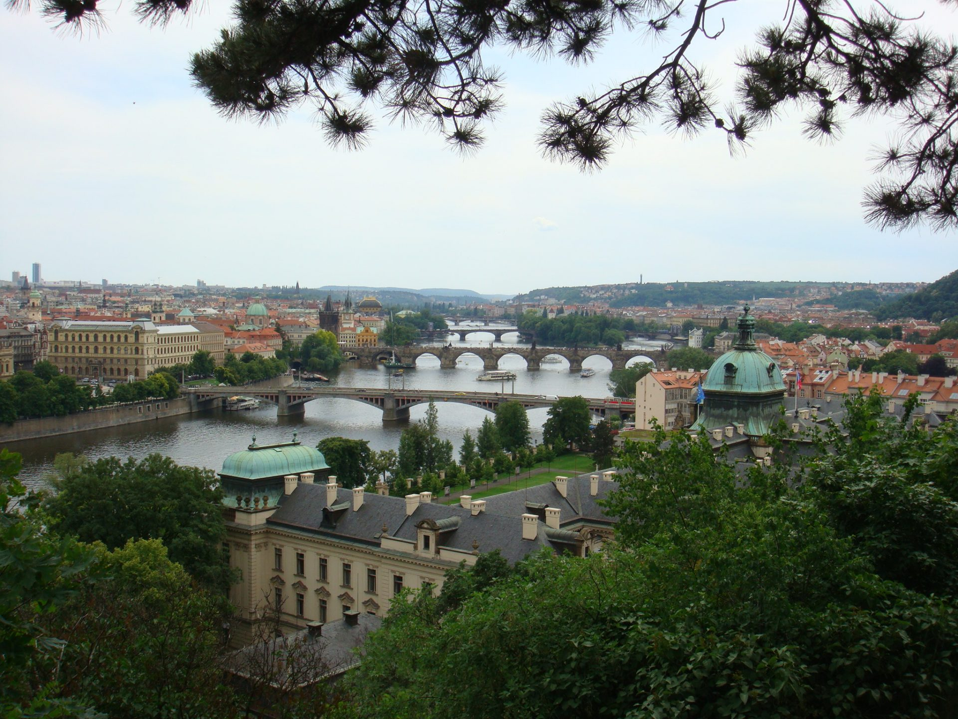 River Vltava from the Palace Gardens