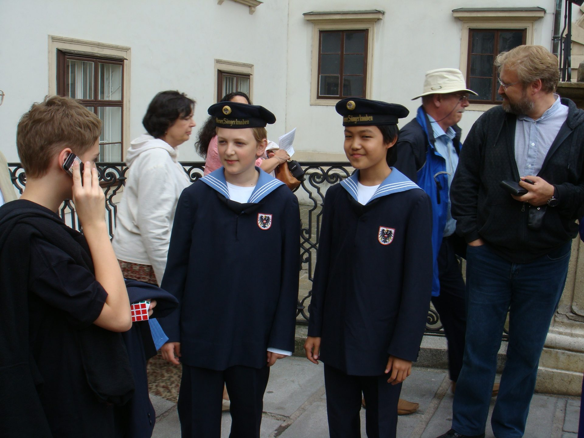 Two of the boys in the Vienna Boys' Choir