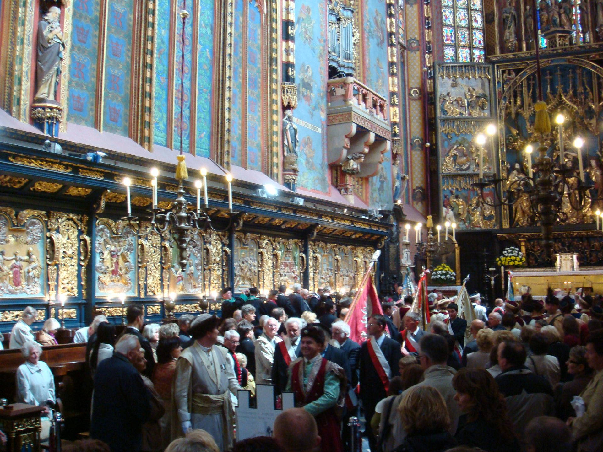 The Procession in the interior of the Basilica of the Blessed Virgin