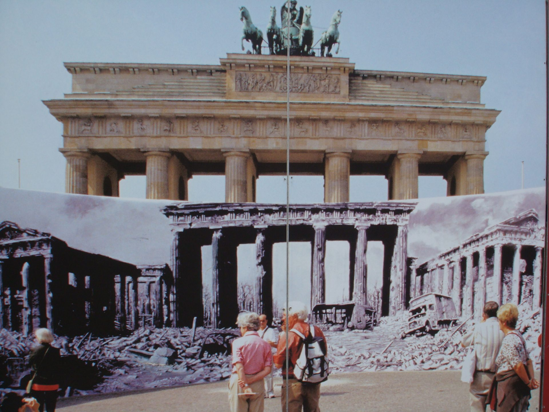 This photo, on the Wall memorial, perfectly depicts the conflicting images