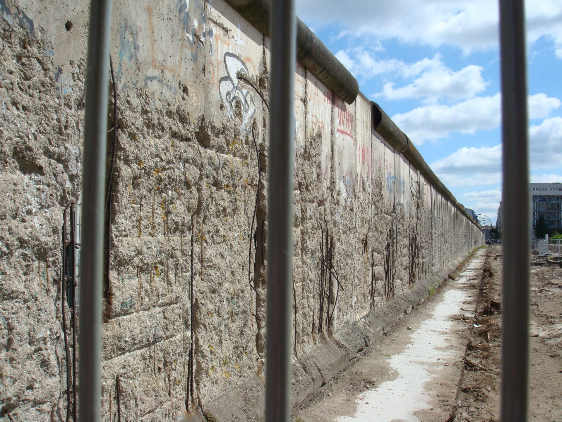 The largest preserved section of the Berlin Wall