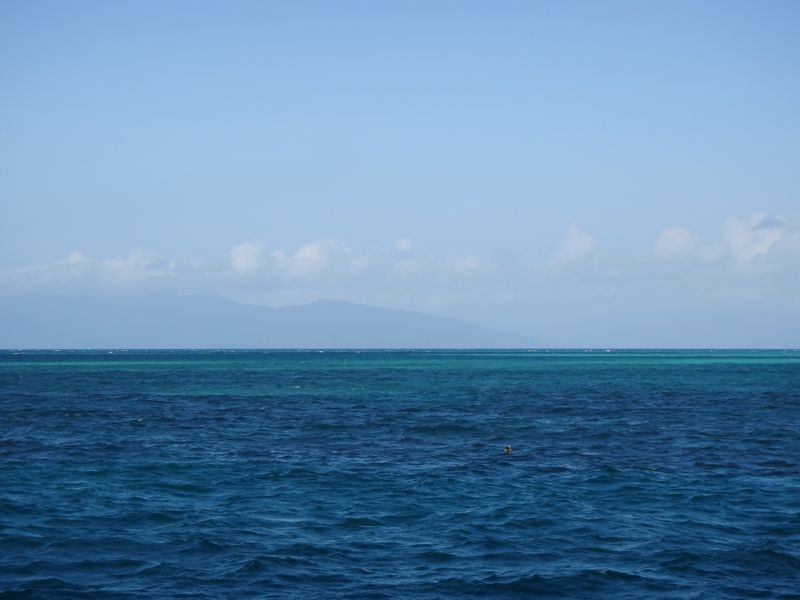 Barrier reef in distance