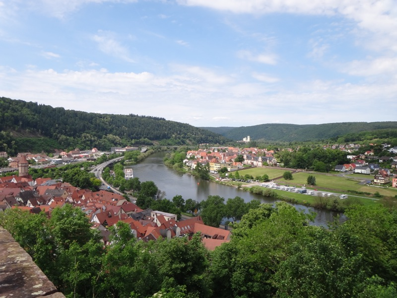 Wertheim and Main River from castle