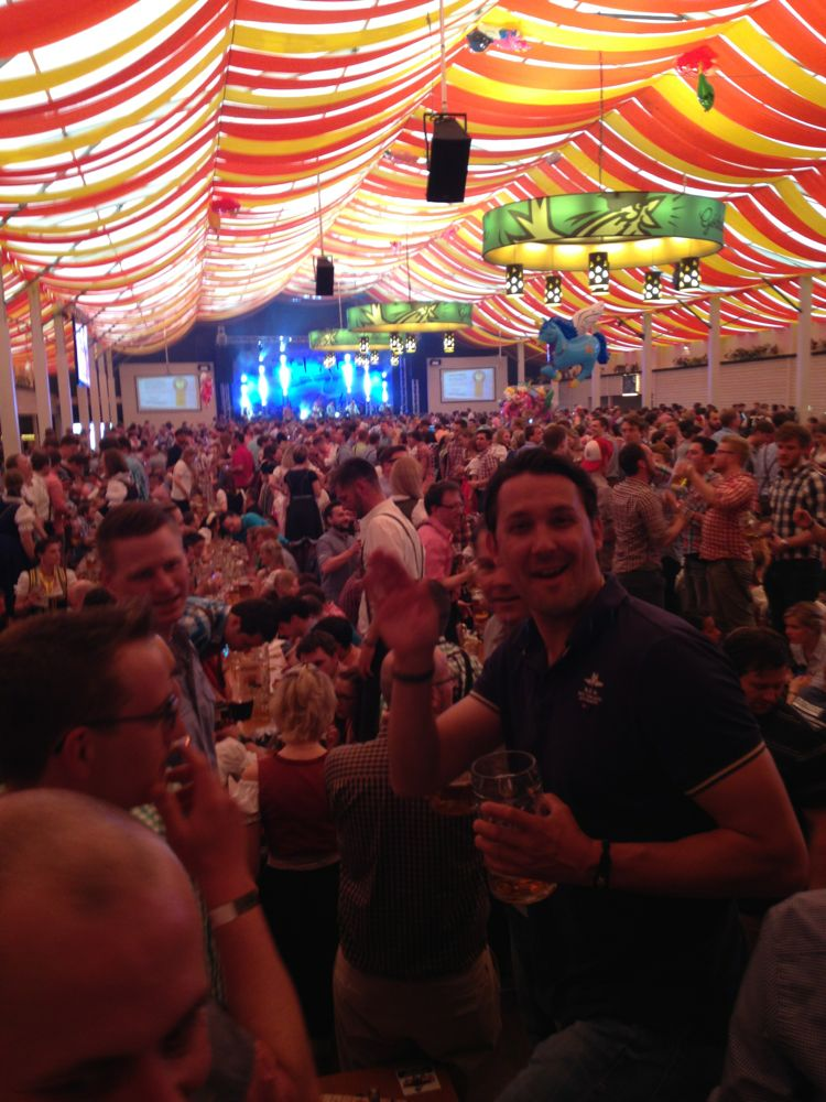 The scene inside our beer hall at Fruhlingfest