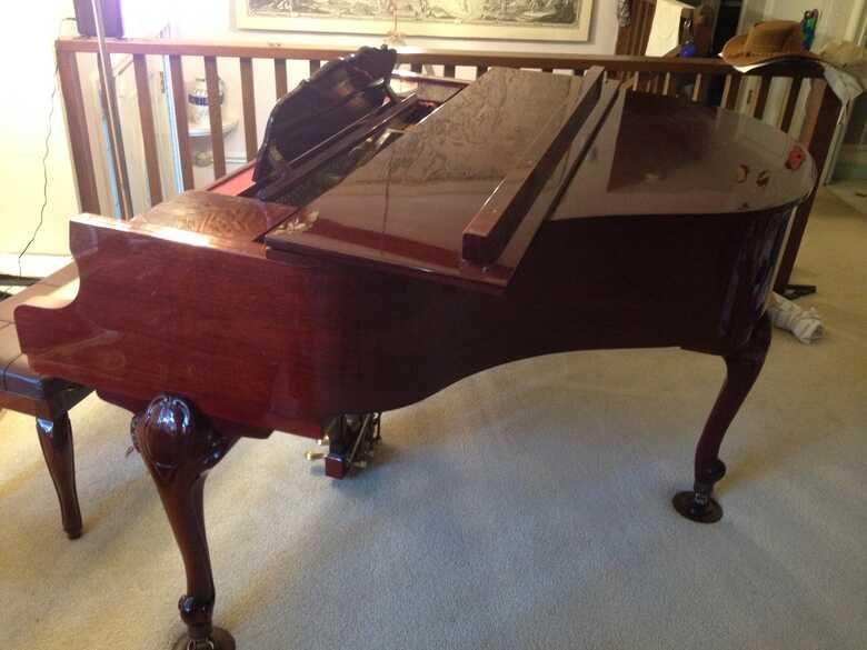 Baby Grand Piano- Mahogany French Provincial