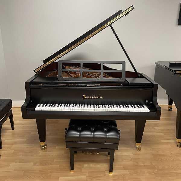 "Bosendorfer 185 CS #49929 Satin Ebony 6' 1"" Grand Piano"