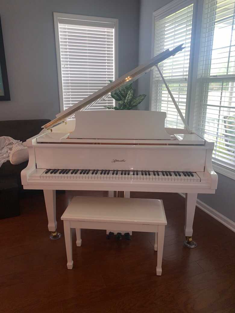 Ritmuller White Grand Piano - Gently Used