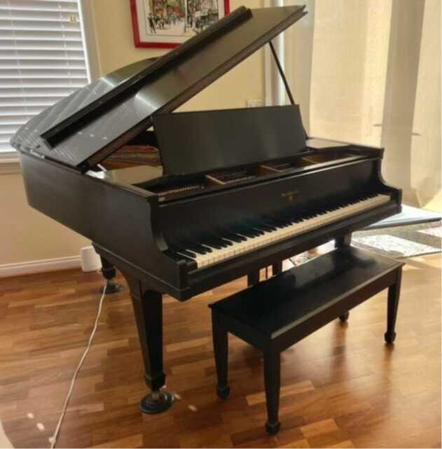 """Knabe 5'4"""" Satin Ebony Grand Piano"""