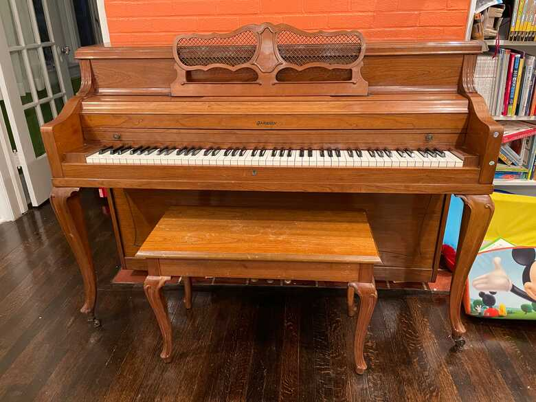 A lightly used American piano looking for a new home