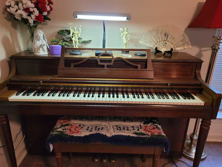 Mother's piano had since 1970