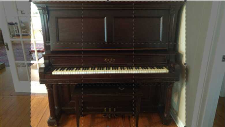 Fisher Upright, good/fair condition.  With original bench.