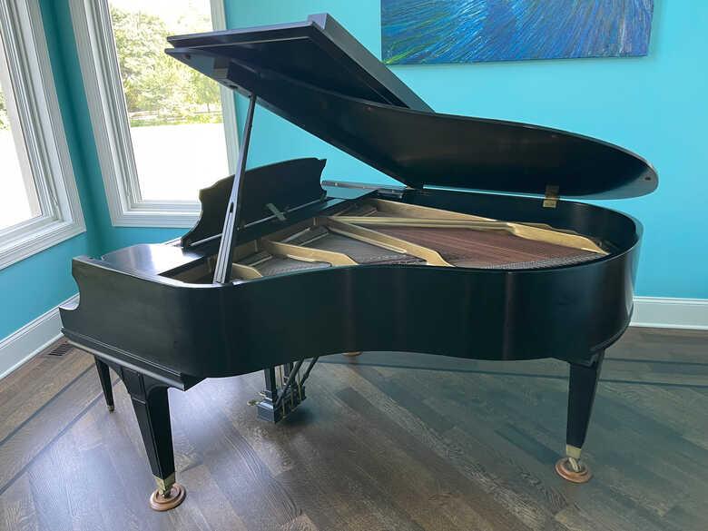 """Mason & Hamlin Model A 5'8"""" Satin Ebony Black Grand Piano"""