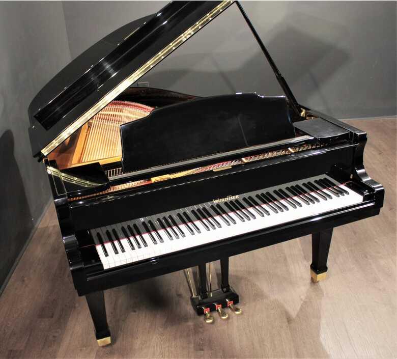 Wurlitzer 6'1'' Grand Piano Polished Ebony G-461