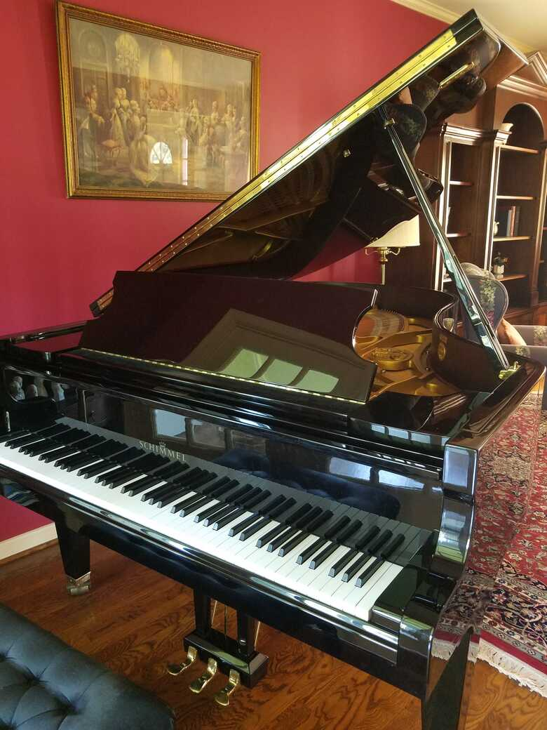 Schimmel Grand Piano. Rich sounding, great condition.