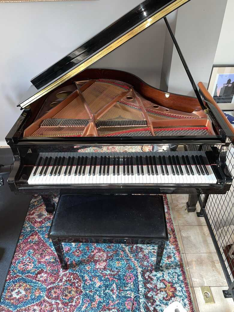 Gently used baby grand piano