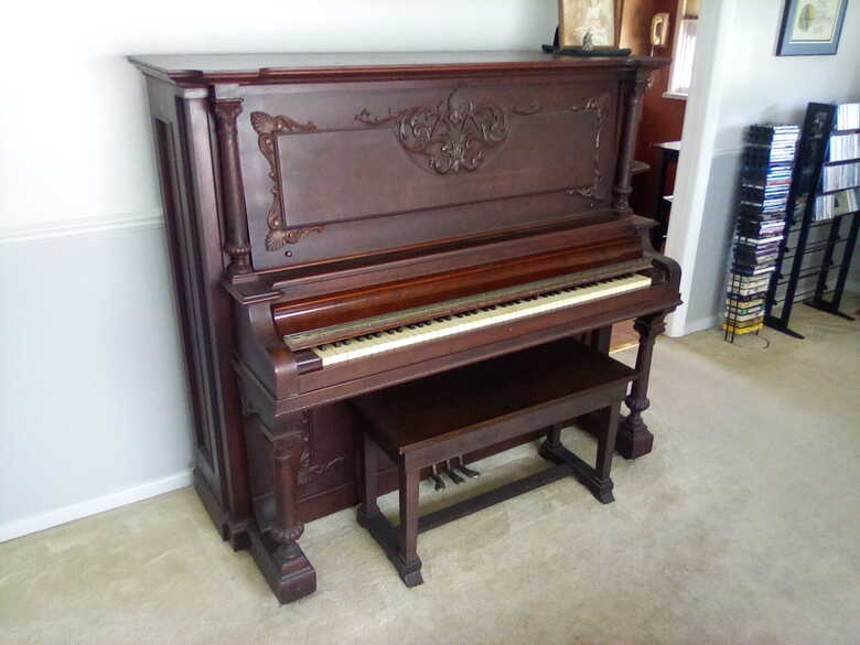 113 year old upright baby grand.