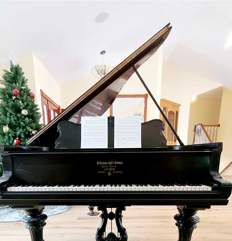 1900 Vintage Steinway & Sons 6ft Grand Piano Fully Playable