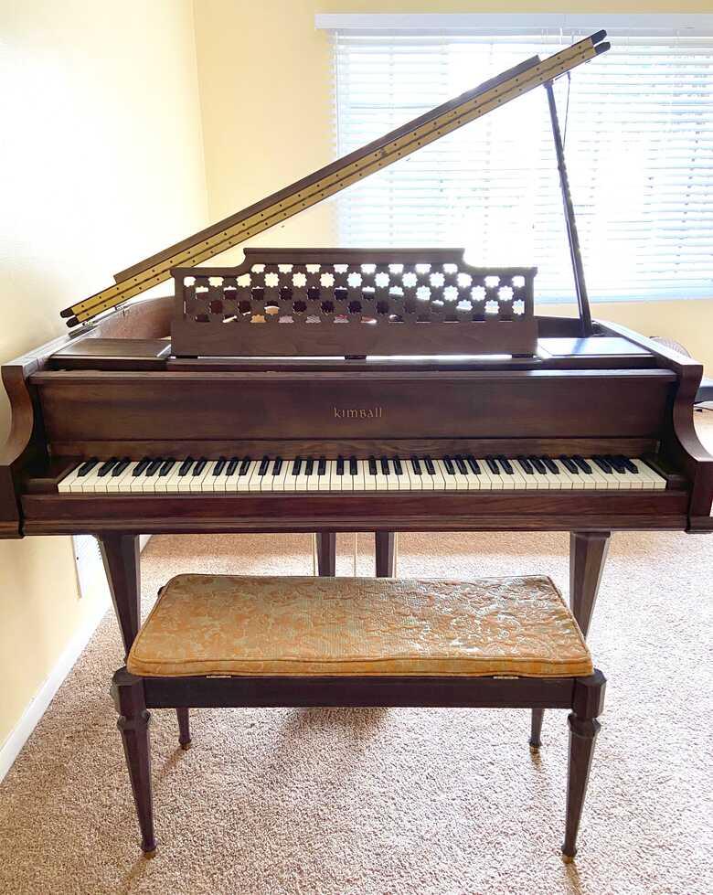 Kimball Grand Piano, Rare Victorian-Style Art Case