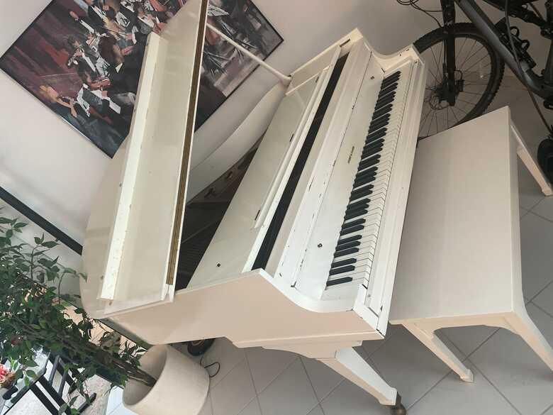 Story and Clark Grand White Piano