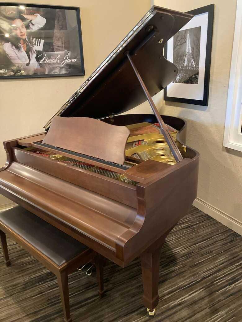 Yamaha C3 Grand Piano in Satin Walnut