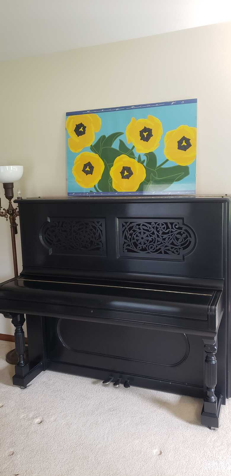 1888 Steinway & Sons Upright Piano Eastlake Victorian Style